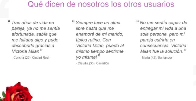 opiniones victoria milan