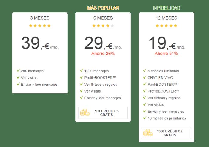 precios 2016 - 2017 premium de victoria milan