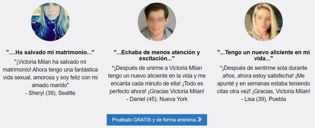 comentarios victoria milan